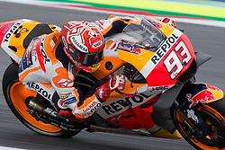 September 7, 2018 - Rimini, RN, Italy - Marc Marquez of Repsol Honda Team during the free practice 2 of the OCTO Grand Prix of San Marino e della Riviera di Rimini, at Misano World Circuit Marco Simoncelli, on September 07, 2018 in Misano Adriatico, Italy  (Credit Image: © Danilo Di Giovanni/NurPhoto/ZUMA Press)