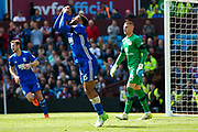 Birmingham City  midfielder David Davis (26) shows his frustration during the EFL Sky Bet Championship match between Aston Villa and Birmingham City at Villa Park, Birmingham, England on 23 April 2017. Photo by Simon Davies.