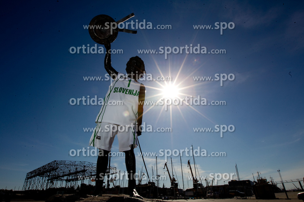 Boy in jersey of Slovenia National basketball team at Eurobasket Lithuania 2011, on September 5, 2011, in Klaipeda, Lithuania.  (Photo by Vid Ponikvar / Sportida)