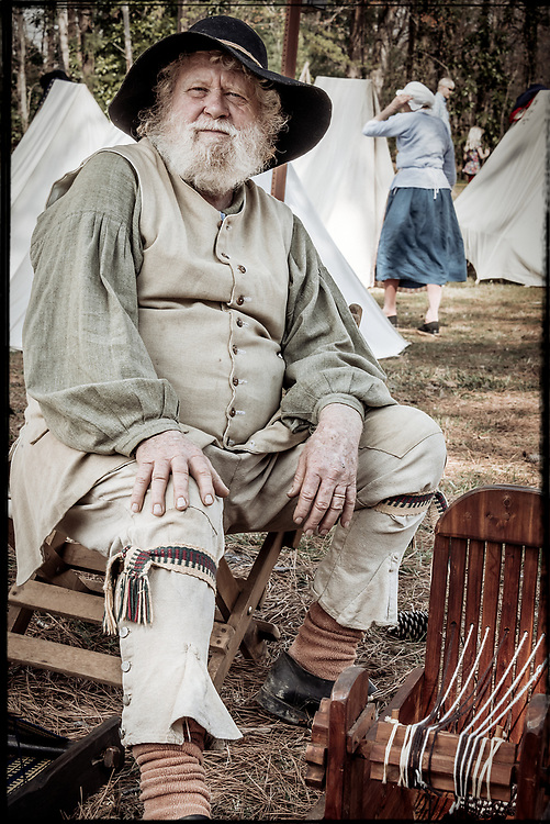 This kind gentleman was demonstrating 18th century weaving and textile techniques at the 2017 Battle of Guilford Courthouse Reenactment.