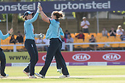 WICKET -  Kate Cross Strikes for Englandduring the Royal London Women's One Day International match between England Women Cricket and Australia at the Fischer County Ground, Grace Road, Leicester, United Kingdom on 4 July 2019.