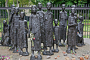 Sculpture in front of the old Jewish cemetery in Berlin.