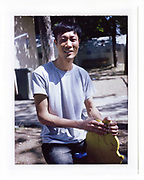 Kim from Vietnam is in the kid play ground in Presevo Camp, Presevo, Serbia, 2017<br />