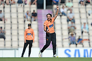 Amelia Kerr of Southern Vipers appeals for the wicket of Alice Davidson-Richards during the Women's Cricket Super League match between Southern Vipers and Yorkshire Diamonds at the Ageas Bowl, Southampton, United Kingdom on 8 August 2018.