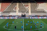 ALKMAAR - 15-02-2017, AZ - Olympique Lyon, AFAS Stadion, training,