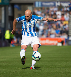 Aaron Mooy of Huddersfield Town in action - Mandatory by-line: Jack Phillips/JMP - 25/08/2018 - FOOTBALL - The John Smith's Stadium - Huddersfield, England - Huddersfield Town v Cardiff City - English Premier League