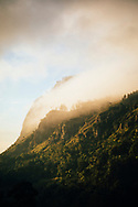 Morning sun and mist on the mountains of hill country, Ella, Sri Lanka, Asia