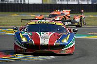 Davide Rigon (ITA) / Sam Bird (GBR) / Andrea Bertolini (ITA)  #71 AF Corse Ferrari 488 GTE, . Le Mans 24 Hr June 2016 at Circuit de la Sarthe, Le Mans, Pays de la Loire, France. June 18 2016. World Copyright Peter Taylor/PSP.