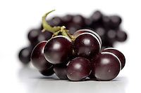 Buch of grapes on white background