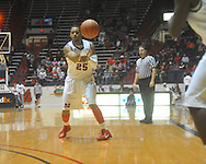 """Ole Miss guard Donald Williams (25) at the C.M. """"Tad"""" Smith Coliseum in Oxford, Miss. on Thursday, December 29, 2010. (AP Photo/Oxford Eagle, Bruce Newman)"""