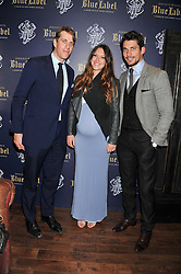Left to right, BEN & MARY-CLARE ELLIOT and DAVID GANDY at the launch of the Johnnie Walker Blue Label Club held at The Scotch, Mason's Yard, London on 1st May 2012.