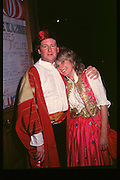 The knight of glin and madam Fitzegarld, Fancy dress party at Christies, 1984  approx© Copyright Photograph by Dafydd Jones 66 Stockwell Park Rd. London SW9 0DA Tel 020 7733 0108 www.dafjones.com