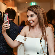 Mariam Michtawi,Christine Artwork is a artist attend the London Arabia Art & Fashion Week 2019 at Jumeirah Carlton Tower, on 5 August 2019, London, UK.