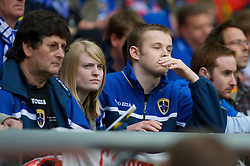 LONDON, ENGLAND - Saturday, May 17, 2008: A Cardiff City supporter looks dejected as his side lose 1-0 against Portsmouth during the FA Cup Final at Wembley Stadium. (Photo by Chris Ratcliffe/Propaganda)