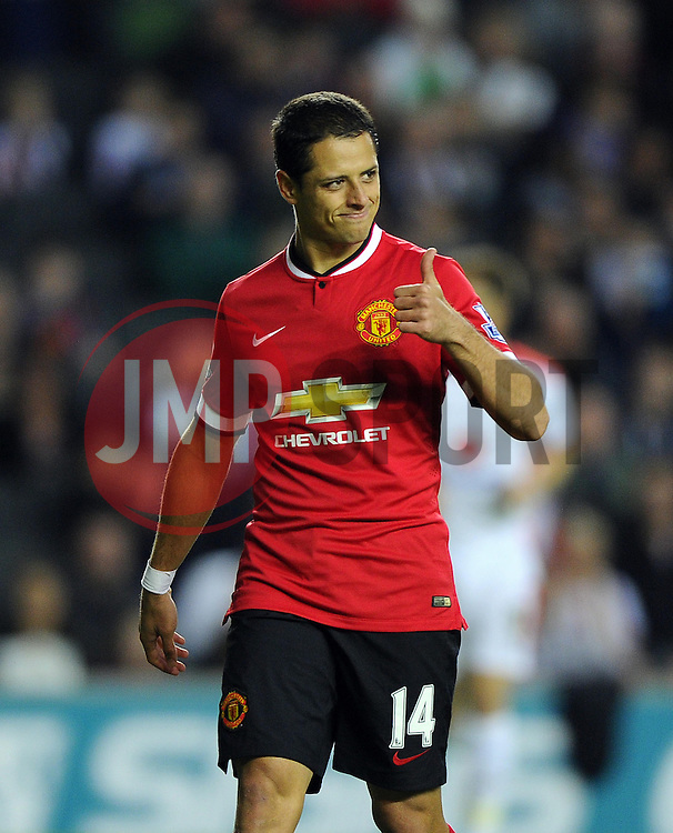 Manchester United's Javier Hernandez - Photo mandatory by-line: Joe Meredith/JMP - Mobile: 07966 386802 26/08/2014 - SPORT - FOOTBALL - Milton Keynes - Stadium MK - Milton Keynes Dons v Manchester United - Capital One Cup