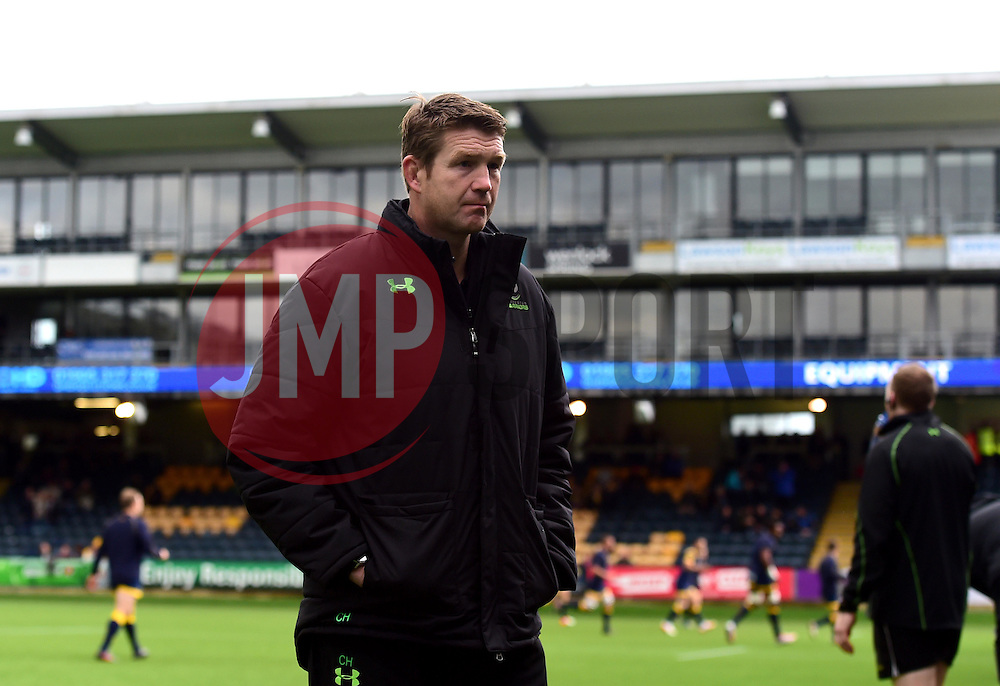 Worcester Warriors' head coach, Carl Hogg  - Mandatory by-line: Joe Meredith/JMP - 22/10/2016 - RUGBY - Sixways Stadium - Worcester, England - Worcester Warriors v Brive - European Challenge Cup