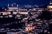 Ouro Preto_MG, Brasil...Vista panoramica de Ouro Preto com a Igreja Matriz Nossa Senhora da Conceicao no detalhe...The panoramic view of Ouro Preto with the mother church Nossa Senhora da Conceicao in detail...Foto: LEO DRUMOND / NITRO.