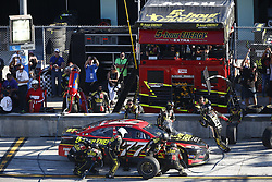 November 19, 2017 - Homestead, Florida, United States of America - November 19, 2017 - Homestead, Florida, USA: Erik Jones (77) comes down pit road for service during the Ford EcoBoost 400 at Homestead-Miami Speedway in Homestead, Florida. (Credit Image: © Justin R. Noe Asp Inc/ASP via ZUMA Wire)