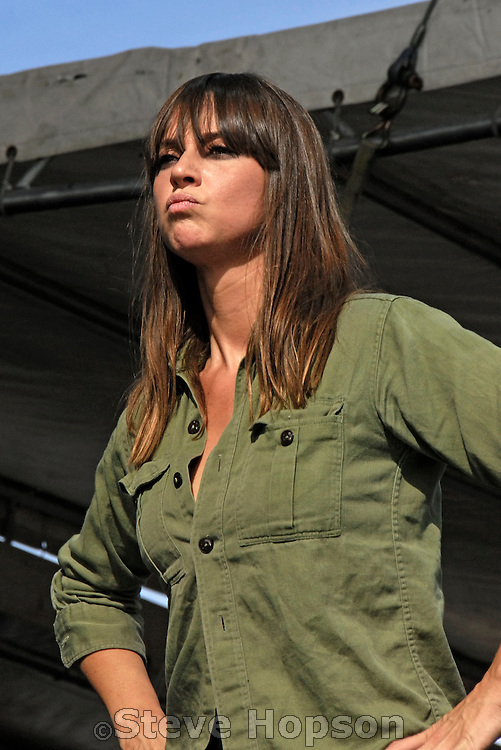 Cat Power, Chan Marshall, performs at the Vegoose Music Festival in Las Vegas Nevada, October 28 2006.