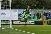 Forest Green Rovers Shamir Mullings(14) scores a goal 1-3 and celebrates during the EFL Sky Bet League 2 match between Forest Green Rovers and Exeter City at the New Lawn, Forest Green, United Kingdom on 9 September 2017. Photo by Shane Healey.