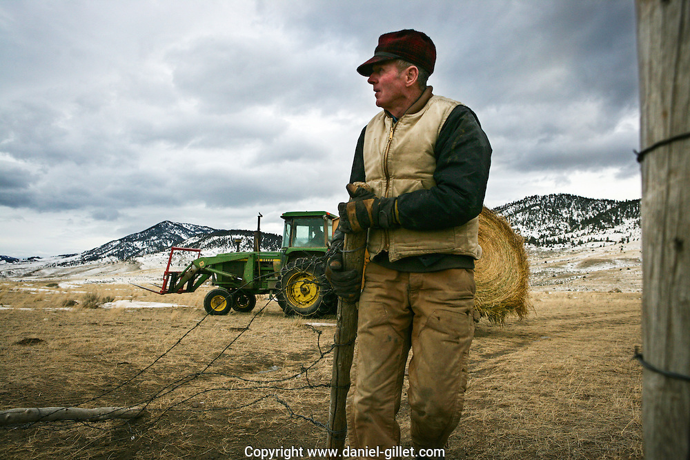 Reportage sur Jerry, eleveur de betail dans la vallee du Paradis pres de Livingston, Montana, USA//Report on Jerry, a farmer in the Paradise Valley, near Livingston, Montana, USA