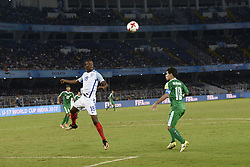 October 14, 2017 - Kolkata, West Bengal, India - Player of England and Iraq in action during the FIFA U 17 World Cup India 2017 Group F match on October 14, 2017 in Kolkata. (Credit Image: © Saikat Paul/Pacific Press via ZUMA Wire)