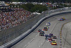 April 29, 2018 - Talladega, Alabama, United States of America - Joey Logano (22) brings his race car down the front stretch during the GEICO 500 at Talladega Superspeedway in Talladega, Alabama. (Credit Image: © Chris Owens Asp Inc/ASP via ZUMA Wire)