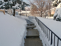 27 January 2011 Snow Storm After Affects: Steps are wet and clean, for now