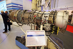 October 9, 2018 - Kyiv, Ukraine - An AI-322F Turbofan Engine is on show at the 15th International Specialized Exhibition Arms and Security 2018, Kyiv, capital of Ukraine, October 9, 2018. Ukrinform. (Credit Image: © Pavlo_bagmut/Ukrinform via ZUMA Wire)