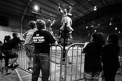 Small fans watch as wrestlers compete during Old School Championship Wrestling Sunday, March 13, 2016 at the Hanahan Sports Complex. Paul Zoeller/Staff