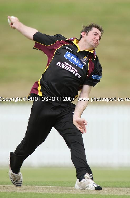 Kinghts batsman S Andrews. Northern Knights v Bangladesh. One day tour cricket match. Seddon Park, Hamilton. Sunday 16 December 2007. Photo: Stephen Barker/PHOTOSPORT