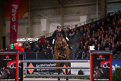 Greve Willem, (NED), Eldorado van de Zeshoek<br /> Grote Prijs Springen<br /> KWPN Hengstenkeuring - 's Hertogenbosch 2016<br /> © Hippo Foto - Dirk Caremans<br /> 04/02/16