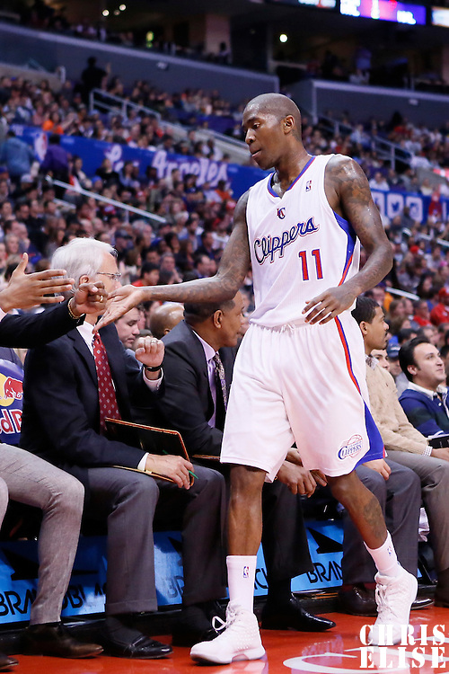 06 January 2014: Los Angeles Clippers shooting guard Jamal Crawford (11) goes back to the bench during the Los Angeles Clippers 101-81 victory over the Orlando Magic at the Staples Center, Los Angeles, California, USA.