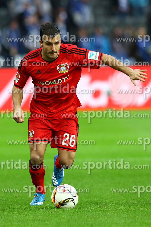 05.12.2015, Olympiastadion, Berlin, GER, 1. FBL, Hertha BSC vs Bayer 04 Leverkusen, 15. Runde, im Bild Giulio Donati (#26, Bayer 04 Leverkusen) // during the German Bundesliga 15th round match between Hertha BSC and Bayer 04 Leverkusen at the Olympiastadion in Berlin, Germany on 2015/12/05. EXPA Pictures &copy; 2015, PhotoCredit: EXPA/ Eibner-Pressefoto/ Hundt<br /> <br /> *****ATTENTION - OUT of GER*****