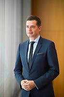 DEU, Deutschland, Germany, Berlin,19.02.2018: Portrait von Mike Mohring, CDU-Landeschef in Thüringen, in der Bundespressekonferenz.