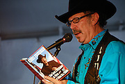 Kinky Friedman at the Texas Book Festival, reading from his book, You Can Lead a Politician to Water, But You Can't Make Him Think. November 4, 2007