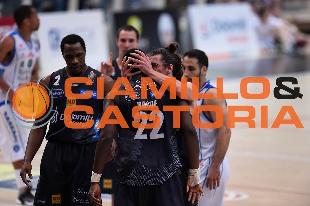 Hogue Dustin, Forray Toto<br /> Dolomiti Energia Trentino vs Banco di Sardegna Sassari<br /> Lega Basket Serie A 2016/2017<br /> Play Off Quarti di Finale Gara 2<br /> Trento,14/05/2017<br /> Foto Ciamillo-Castoria/