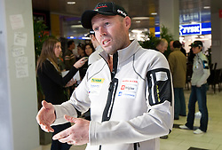 Uros Velepec at press conference of Slovenia Biathlon team before new season 2010 - 2011, on November 24, 2010, in Emporium, BTC, Ljubljana, Slovenia.  (Photo by Vid Ponikvar / Sportida)