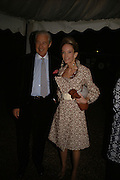 Mr. and Mrs. Martin Summers, Cartier dinner in the Chelsea Physic Garden. 22 May 2006. ONE TIME USE ONLY - DO NOT ARCHIVE  © Copyright Photograph by Dafydd Jones 66 Stockwell Park Rd. London SW9 0DA Tel 020 7733 0108 www.dafjones.com