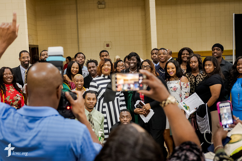 Guests are photographed at the Class of 2018 Graduation & Awards Banquet in the Julius and Mary Jenkins Center on Thursday, April 26, 2018, at Concordia College Alabama in Selma, Ala. LCMS Communications/Erik M. Lunsford