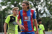 Andreas Breimyr in action during the U21 Professional Development League match between Crystal Palace U21s and Huddersfield U21s at Imperial Fields, Tooting, United Kingdom on 7 September 2015. Photo by Michael Hulf.