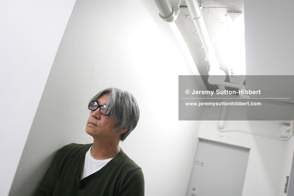 Ryuichi Sakamoto after a joint performance, with Carsten Nicolai, of 'Insen',  in Tokyo, Japan, Sunday, Oct. 29, 2006. In 2003 the two musicians, Ryuichi Sakamoto from Japan, and Carsten Nicolai born in East Germany, came together to record and release the album 'Vrioon', now they follow up that highly acclaimed album with the release, on the Raster Noton music label, of 'Insen'.