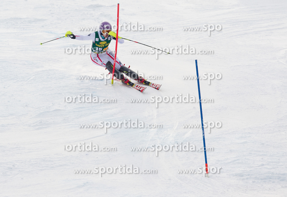 "KIRCHGASSER Michaela (AUT) competes during 2nd Run of FIS Alpine Ski World Cup 7th Ladies' Slalom race named ""49th Golden Fox 2013"", on January 27, 2013 in Mariborsko Pohorje, Maribor, Slovenia. (Photo By Vid Ponikvar / Sportida.com)"