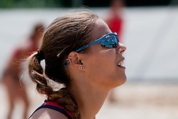 Dajana Lucas at Zavarovalnica Triglav Beach Volley Open as tournament for Slovenian national championship on July 29, 2011, in Preddvor, Slovenia. (Photo by Matic Klansek Velej / Sportida)