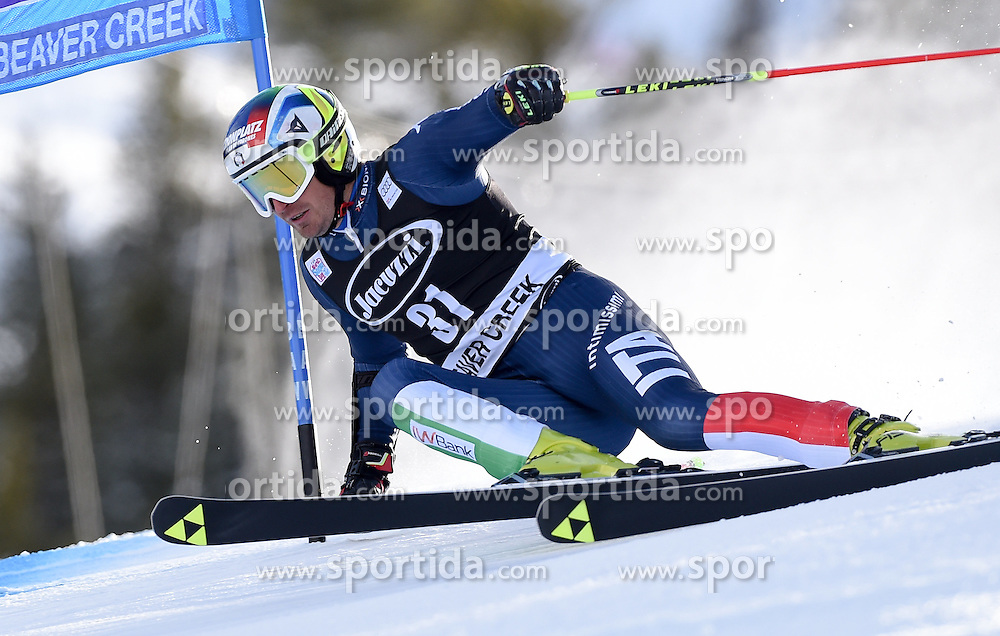 06.12.2015, Birds of Prey Course, Beaver Creek, USA, FIS Weltcup Ski Alpin, Beaver Creek, Riesenslalom, Herren, 1. Lauf, im Bild Manfred Moelgg (ITA) // Manfred Moelgg of Italy during the first run of mens Giant Slalom of the Beaver Creek FIS Ski Alpine World Cup at the Birds of Prey Course in Beaver Creek, United States on 2015/12/06. EXPA Pictures © 2015, PhotoCredit: EXPA/ Erich Spiess