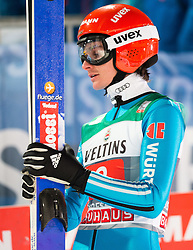 06.01.2015, Paul Ausserleitner Schanze, Bischofshofen, AUT, FIS Ski Sprung Weltcup, 63. Vierschanzentournee, Finale, im Bild Richard Freitag (GER) // Richard Freitag of Germany reacts after his first Final Jump of 63rd Four Hills Tournament of FIS Ski Jumping World Cup at the Paul Ausserleitner Schanze, Bischofshofen, Austria on 2015/01/06. EXPA Pictures © 2015, PhotoCredit: EXPA/ Johann Groder