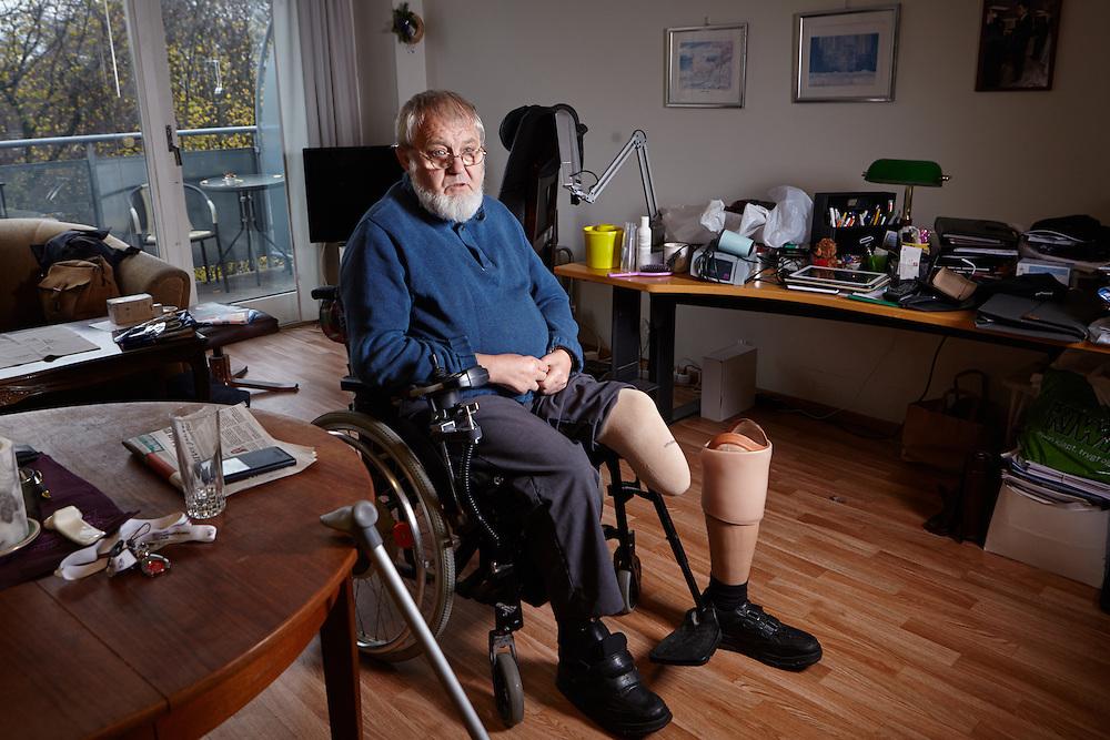 Oslo, 20141105<br /> Roger Holland, bydelsleder i Sagene handikapforbund, lider av diabetes. <br /> Foto: Paul Paiewonsky / Dagbladet MAGASINET