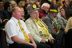© Licensed to London News Pictures . 18/11/2014 . Kent , UK . Monster Raving Loony Party at a hustings in the Rochester and Strood by-election , held at the Corn Exchange in Rochester , this evening ( 18th November 2014 ) . Photo credit : Joel Goodman/LNP
