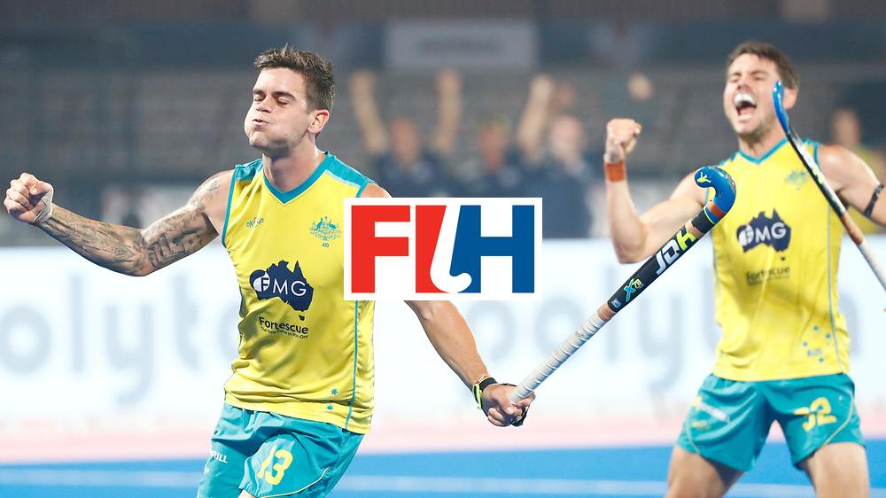 Odisha Men's Hockey World League Final Bhubaneswar 2017<br /> Match id:15<br /> Spain v Australia<br /> Foto: Australia scored a goal<br /> Blake Govers (Aus) <br /> COPYRIGHT WORLDSPORTPICS KOEN SUYK