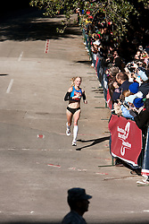 Shalane Flanagan, entering home stretch, winner in women's marathon